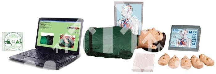 Манекен Т2К Максим-III. Тренажер сердечно-легочной и мозговой реанимации с контроллером, табло, компьютерной программой — торс